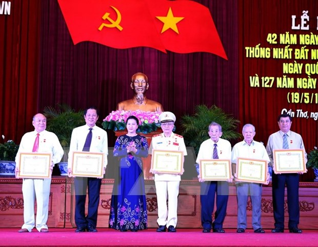 NA Chairwoman attends reunification celebration in Can Tho hinh anh 1