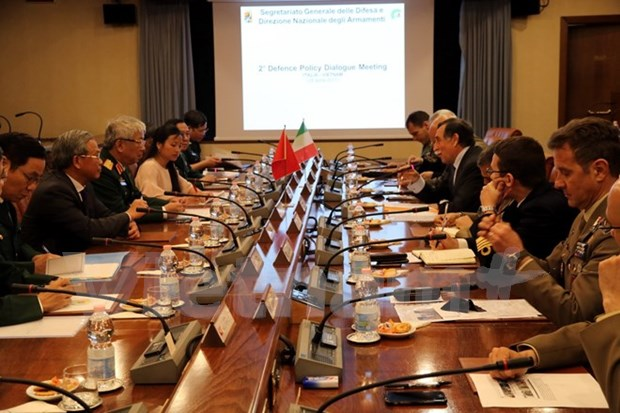 Vietnam, Italy hold second defence policy dialogue hinh anh 1