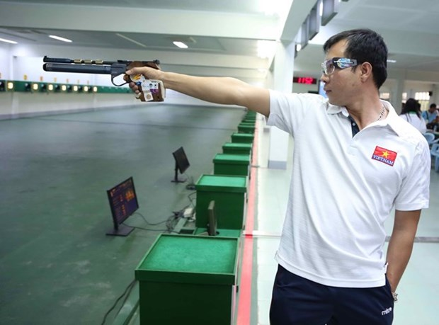 Vietnam participates in Southeast Asian shooting championship hinh anh 1