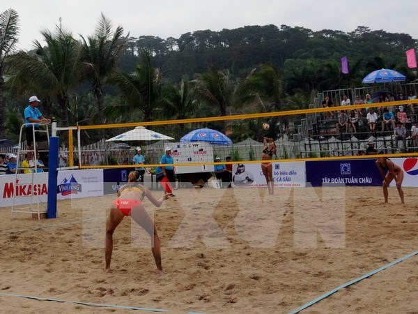 Asian women's beach volleyball tourney kicks off in Tuan Chau hinh anh 1