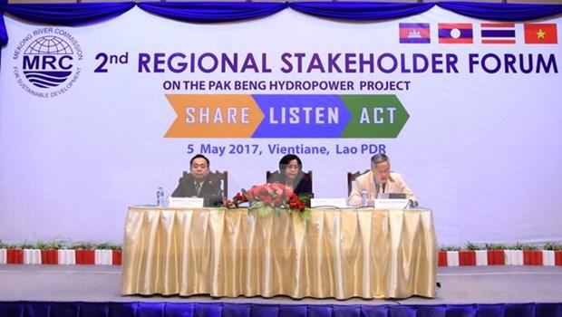 MRC member states discuss Laos' Pak Beng hydropower plant hinh anh 1
