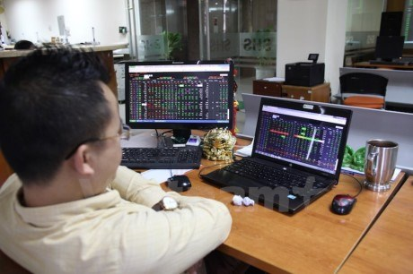 VN-Index falls to 720 on bank losses hinh anh 1