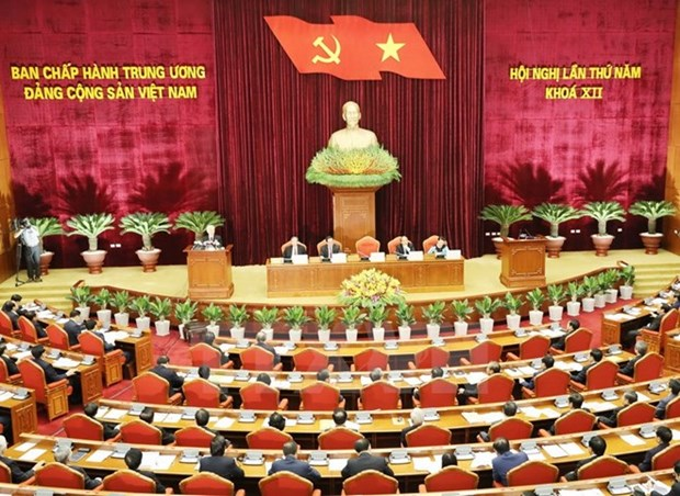 Second working day of Party Central Committee's fifth plenum hinh anh 1