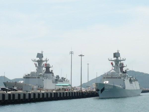 China's naval fleet visits Ho Chi Minh City hinh anh 1