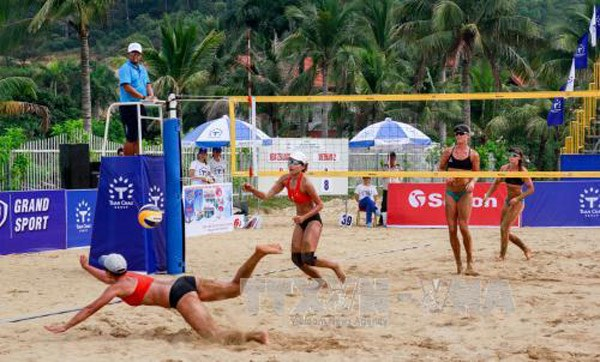 China win Asian women's beach volleyball tourney hinh anh 1
