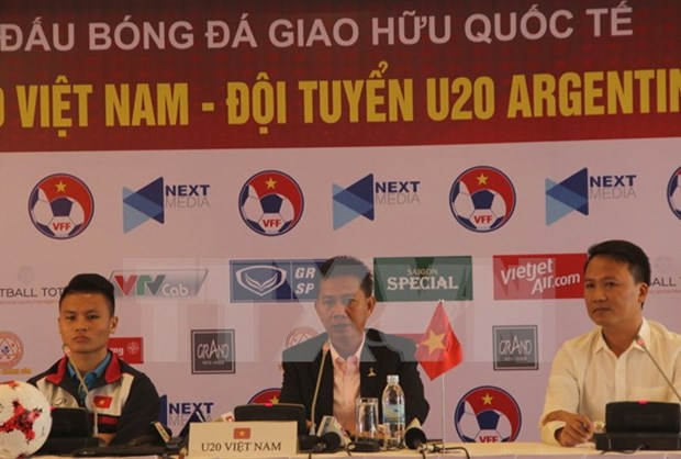 Vietnam U20 team eager for friendly match with Argentina hinh anh 1