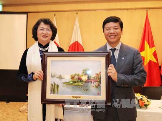 Vice President Dang Thi Ngoc Thinh begins Japan visit hinh anh 1