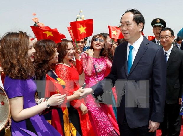 Welcome ceremony and cannon salute for President in China hinh anh 1