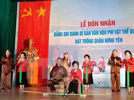 Hung Yen: Trong quan singing named national intangible cultural heritage hinh anh 1