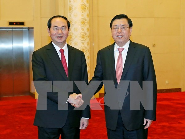 Vietnamese, Chinese legislatures urged to increase experience sharing hinh anh 1