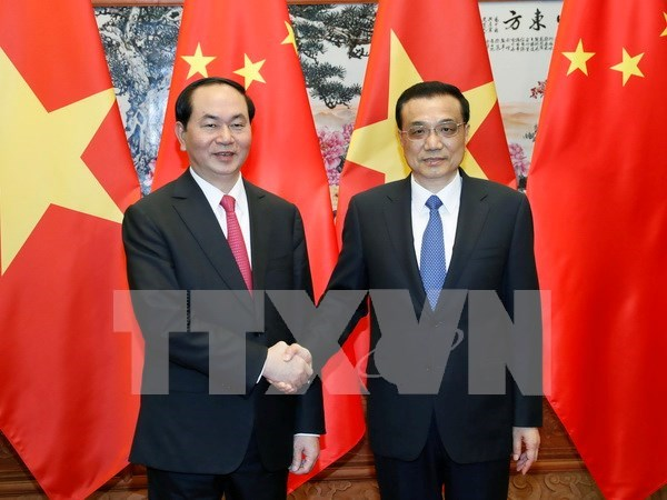 Stronger ties critical to development of both Vietnam, China: President hinh anh 1