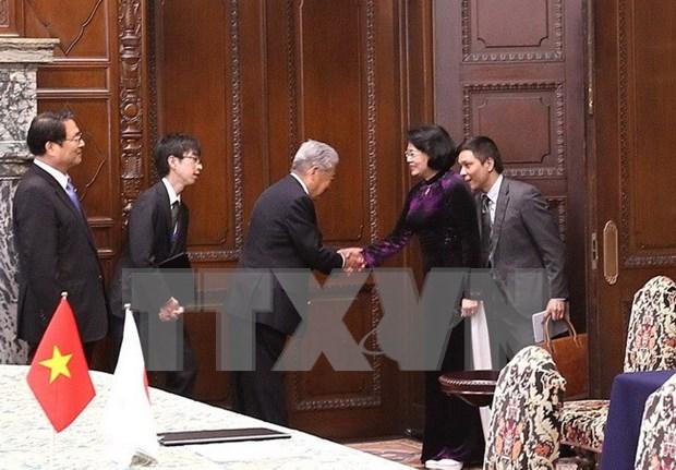 Vice President highlights fruitful parliamentary ties of Vietnam, Japan hinh anh 1