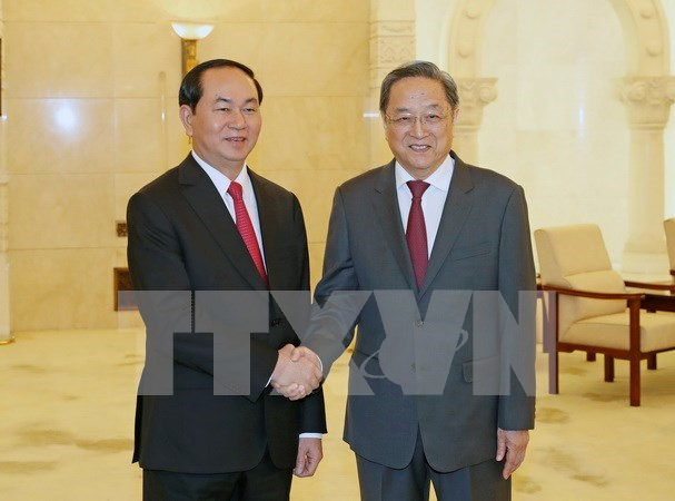 Yu Zhengsheng hails importance of Vietnam President's China visit hinh anh 1