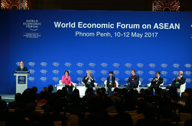 Multiple outcomes reaped from Vietnam's attendance in WEF-ASEAN hinh anh 1