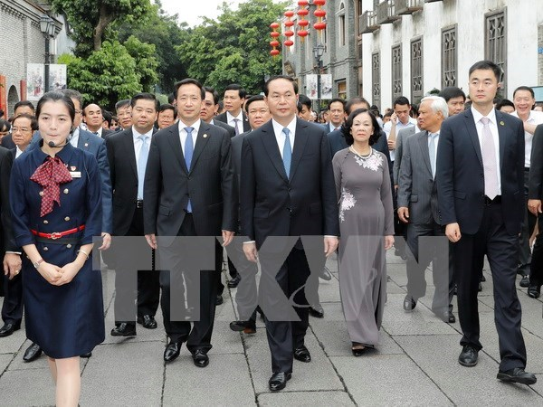 President takes trip to China's Fujian province hinh anh 1