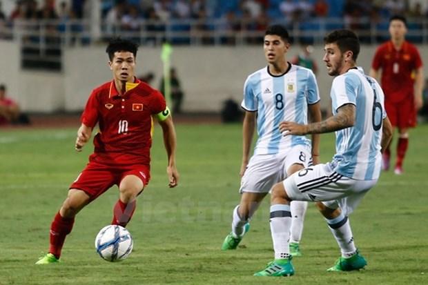 Argentina batter U22 Vietnam in Hanoi hinh anh 1