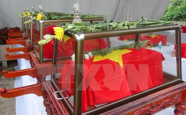 Remains of Vietnamese martyrs reburied in Quang Binh hinh anh 1