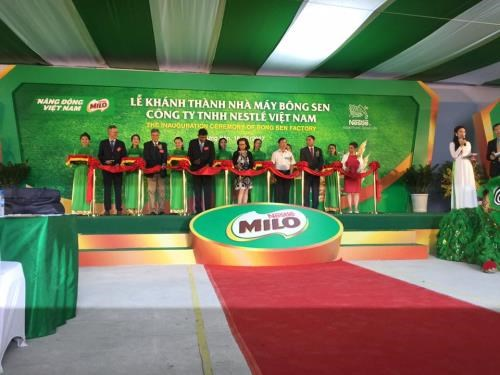 Nestle opens new factory in Hung Yen hinh anh 1