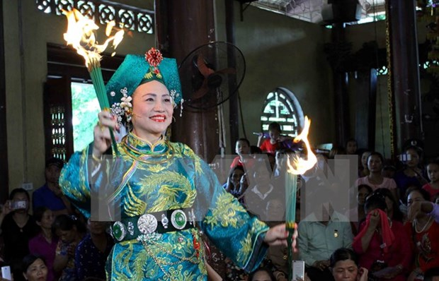 Mother Goddess worship festival underway in Yen Bai hinh anh 1