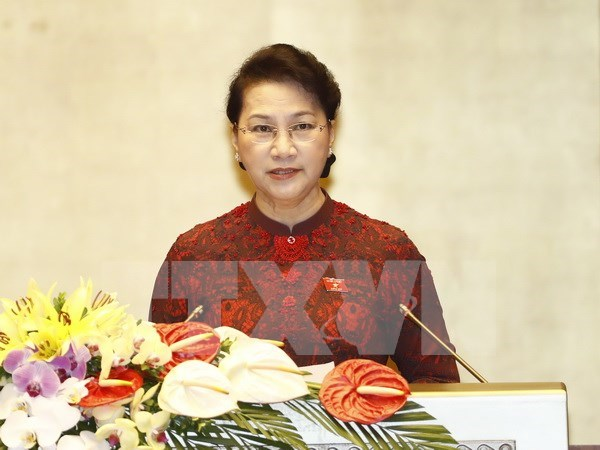 NA Chairwoman calls for national efforts to overcome difficulties hinh anh 1