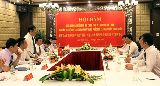 Party, procuracy officials of Lang Son, Guangxi share experience hinh anh 1