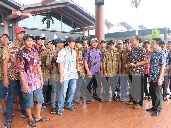 Indonesia releases Vietnamese fishermen hinh anh 1