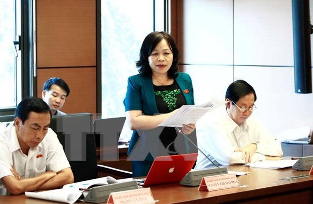 Law, ordinance making discussed at NA session hinh anh 1