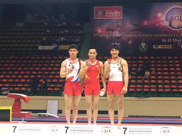 Vietnamese athlete wins gold at Asian gymnastics champs hinh anh 1