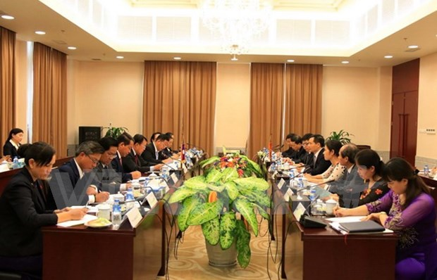 Offices of Vietnam, Laos Party Central Committees reinforce cooperation hinh anh 1