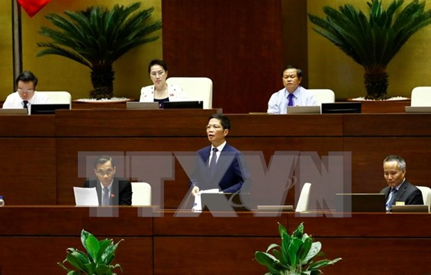 National Assembly debates draft foreign trade management bill hinh anh 1