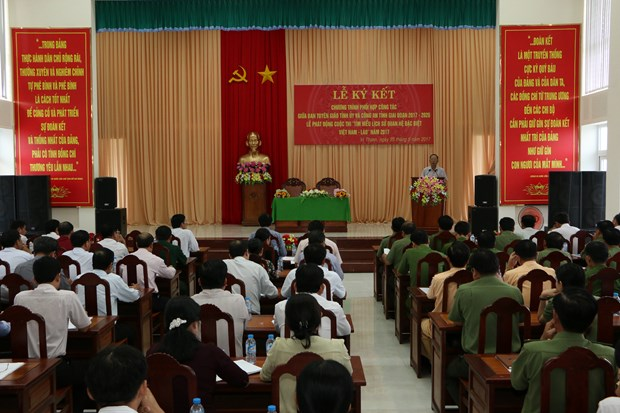 Contest on Vietnam-Laos relations launched in Hau Giang province hinh anh 1