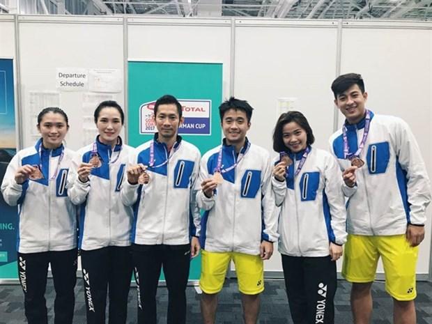 Vietnam beats Singapore, takes Sudirman Cup's Group 2 hinh anh 1