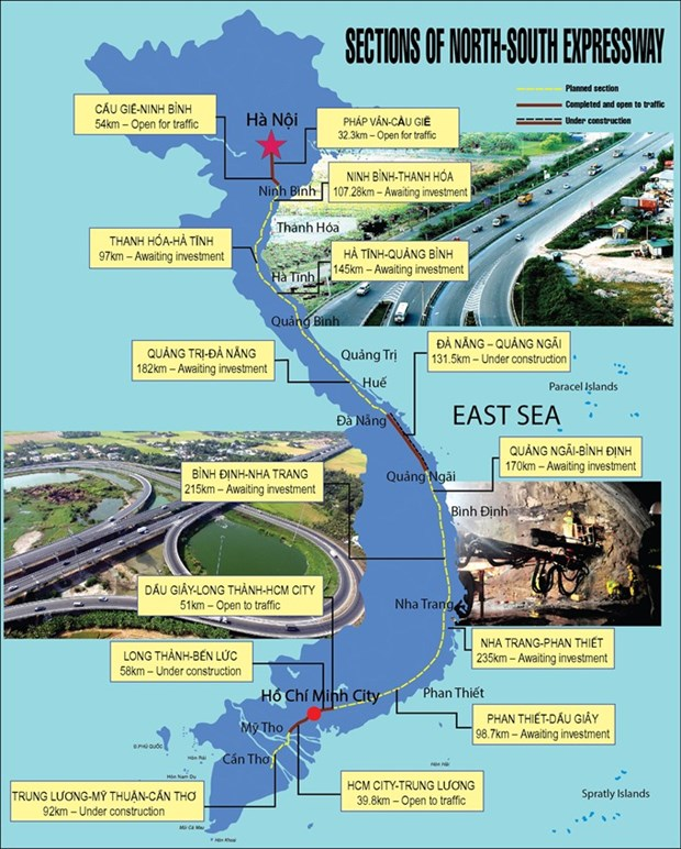 North-South expressway to cost 13.6 billion USD hinh anh 1