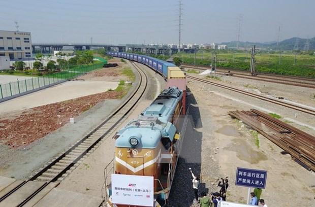 Laos, China speed up construction of cross-border railway hinh anh 1