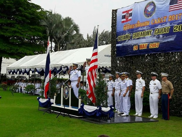 Thailand, US kick off CARAT 2017 joint military exercise hinh anh 1