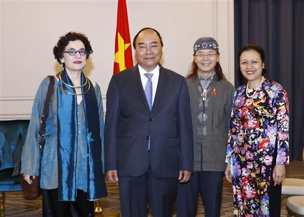 PM meets Vietnamese delegation to UN, Vietnamese businesses hinh anh 2