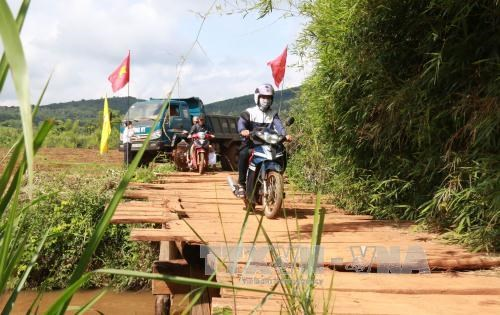 Dak Nong builds concrete bridge in remote area hinh anh 1