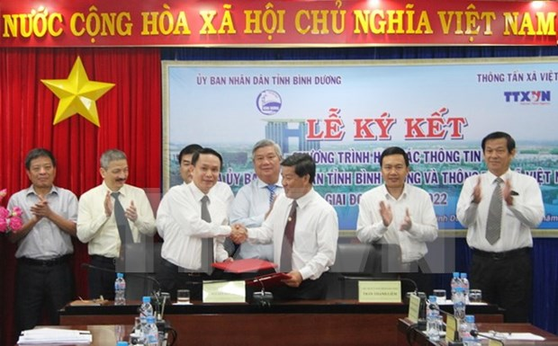 VNA, Binh Duong shake hands in communications hinh anh 1