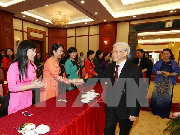 Party leader hopes for more women legislators hinh anh 1