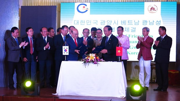 Quang Nam, RoK's Gwangyang city ink cooperation deal hinh anh 1