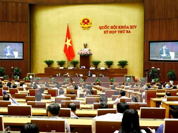 Deputies vote for bills on SMEs support, foreign trade management hinh anh 1