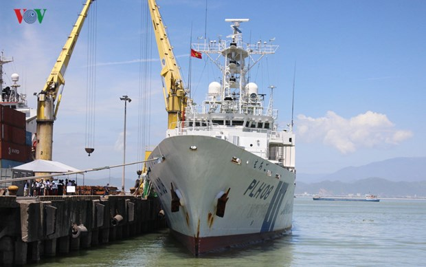 Japan Coast Guard vessel visits Da Nang hinh anh 1