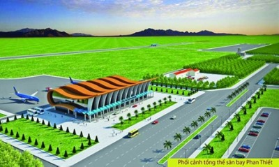 Authorities push Phan Thiet airport construction hinh anh 1