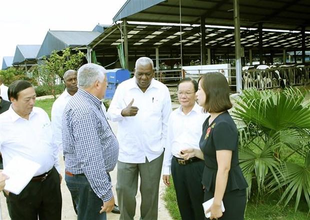 Cuban top legislator visits Son La province hinh anh 1