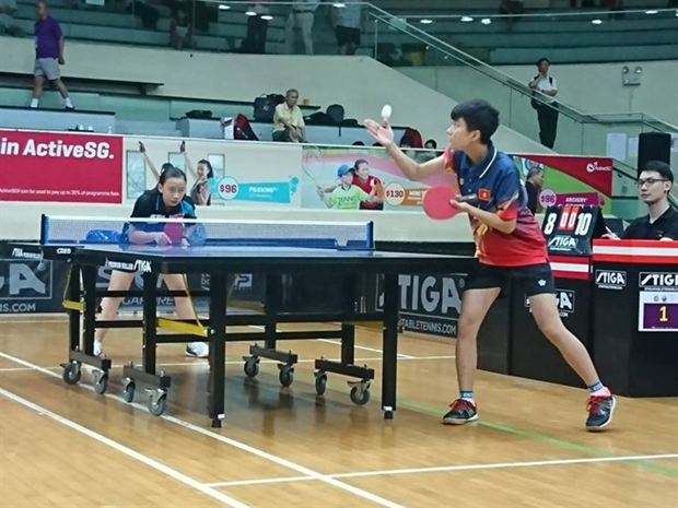 Vietnam cadets bring home table tennis silver hinh anh 1