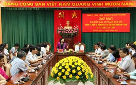 Hanoi values contributions of news agencies hinh anh 1