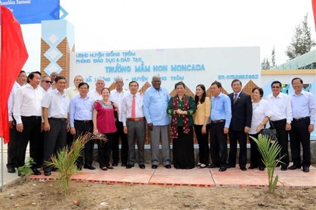 Top Cuban legislator welcomed in Ben Tre province hinh anh 1