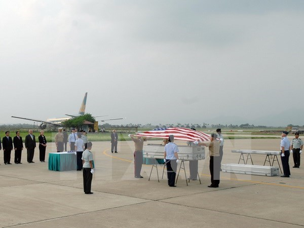 Repatriation ceremony held for US servicemen's remains hinh anh 1