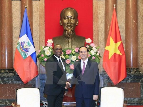 President Tran Dai Quang meets Haitian Senate President hinh anh 1