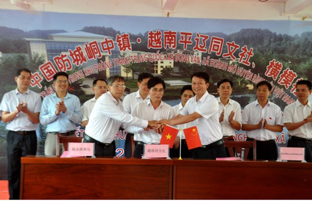Quang Ninh's communes build friendly relations with Chinese town hinh anh 1